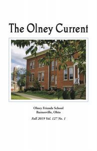 Fall 2019 cover of The Olney Current